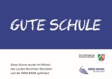 Bild: Logo der Landesregierung Nordrhein-Westfalen und der NRW Bank zum Förderprogramm Gute Schule 2020