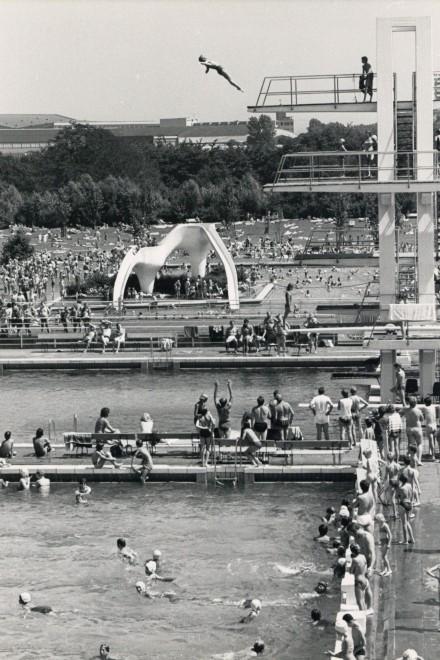 Foto: Das Grugabad um 1970