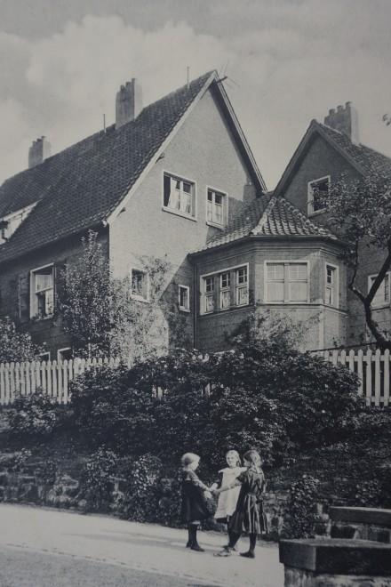 Foto: Büttnerstraße 16-18 von hinten, 1911 | Bauphase I (1907-1914)