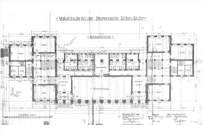 Planzeichnung: Schulgebäude Grundriss