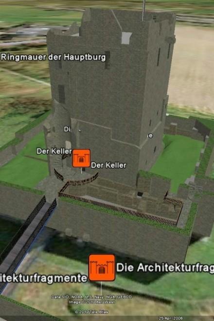 Ansicht: Burg Altendorf in Google Earth