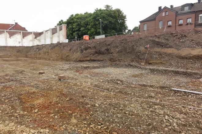 Foto: Blick auf die Ruhrkiese in der Baugrube