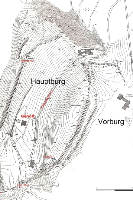 Grafik: Die Alteburg in Heidhausen