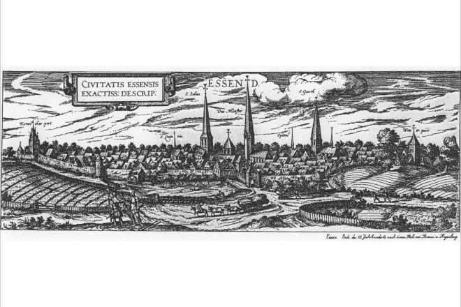 Grafik: Stadtansicht von Braun/Hogenberg von 1581