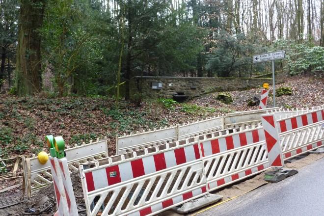 Foto: Die Baustelle vor der Kirchenruine