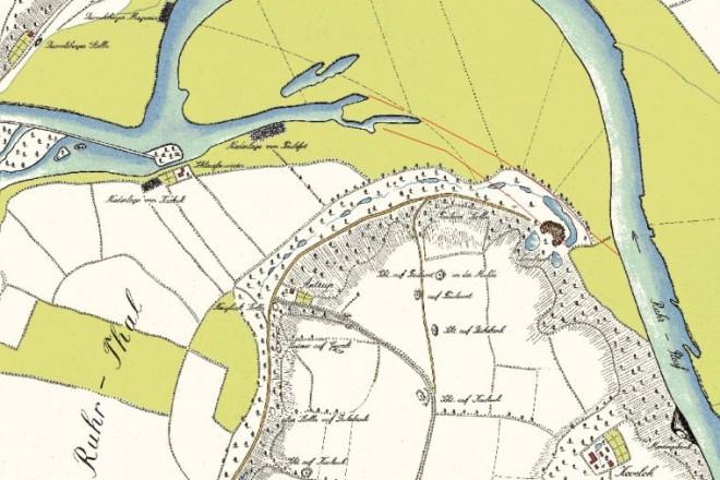 Abbildung: Honigmann´sche Karte von 1803/06