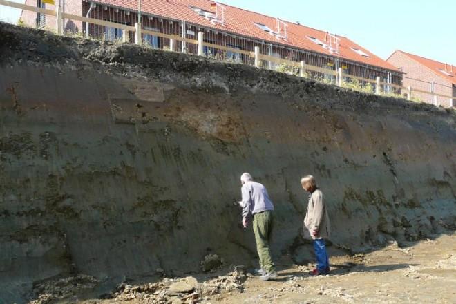 Foto: Profil der Baugrube