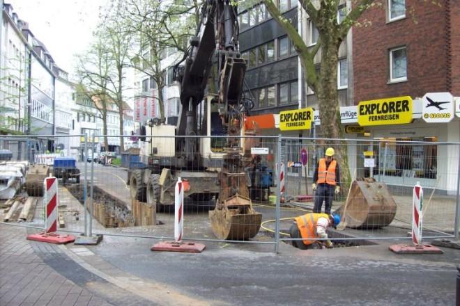 Foto: Baustelle in der Straße Gänsemarkt
