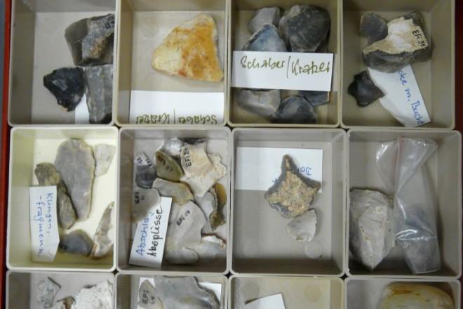 Abbildung: weitere Funde vom Fundplatz aus der Sammlung Helmut F. Barnick