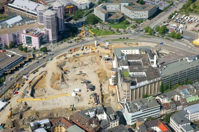 Luftbild der Baustelle