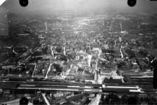 Ausschnitt Luftbild von 1926, Bereich Innenstadt, Schrägaufnahme