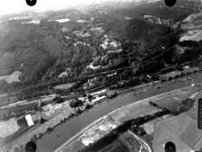 Ausschnitt Luftbild von 1926, Bereich Villa Hügel, Schrägaufnahme