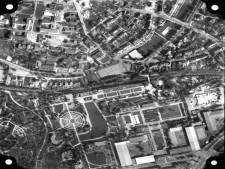 Ausschnitt Luftbild von 1957, Bereich Gruga