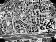 Ausschnitt Luftbild von 1957, Bereich Innenstadt