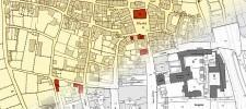 Historische Karte der Innenstadt übergehend in die aktuelle Karte
