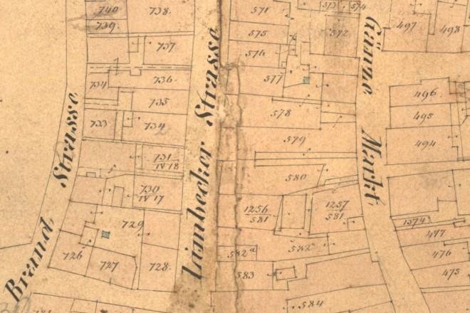 Historische Karte der Limbecker Straße