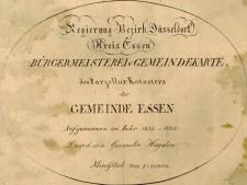 Legende der Urkarte von Essen aus dem Jahr 1821