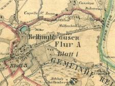 Historische Karte der Gemarkungen Rellinghausen, Heide und Bergerhausen