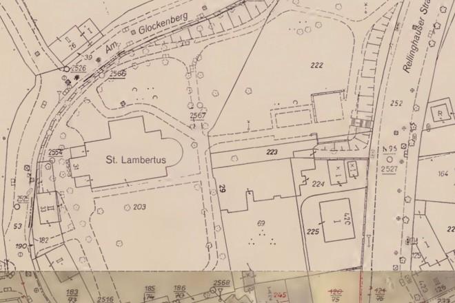 Historische Karte von Rellinghausen von 1962