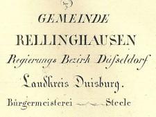 Legende und Maßstab der Urkarte von Rellinghausen