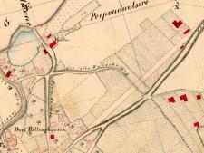 Historische Karte vom Dorf Rellinghausen bis zur Ruhr