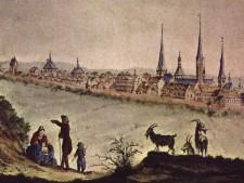 Kartenausschnitt der Stadtansicht Essen 1775 von Canonicus Biesten