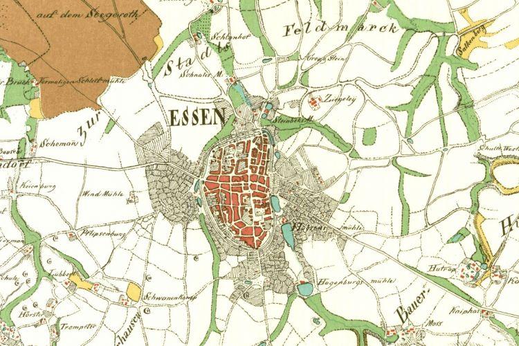 karte essen Bildergalerie historische Karten