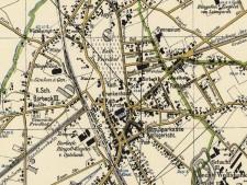 Kartenausschnitt der Gemeinde Borbeck 1904