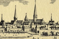 Kartenausschnitt der Stadtansicht Essen um 1650 von Merian
