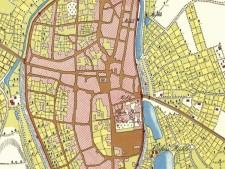 Kartenausschnitt des Fürstentums Essen 1803 Bereich Innenstadt