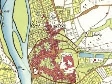 Kartenausschnitt des Fürstentums Essen 1803 Bereich Werden
