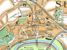 Kartenausschnitt Stadtplan von Steele 1927