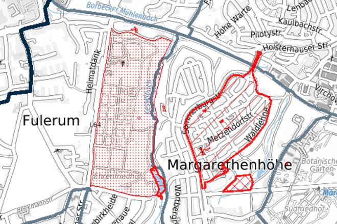 Kartenausschnitt Denkmäler in Essen