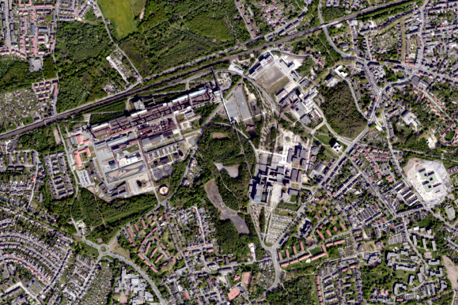 Kartenausschnitt Luftbild Essen