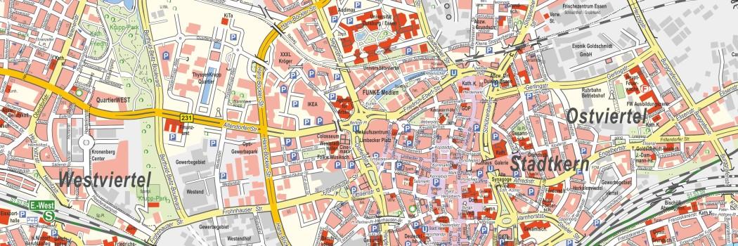 Ausschnitt aus dem Amtlichen Stadtplan