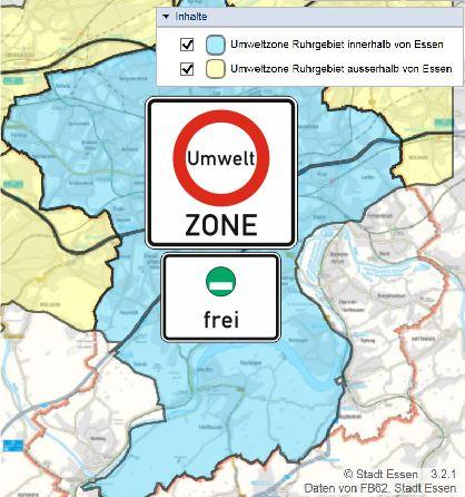 Umweltzone Ruhrgebiet in Essen