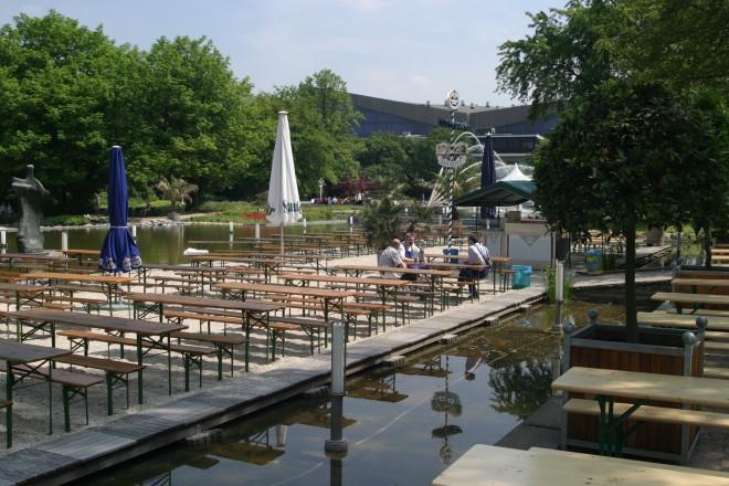 Sommergastronomie Wassergarten im Grugapark