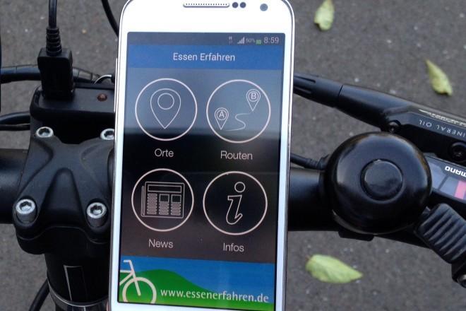 Lernen Sie die Radwege und Sehenswürdigkeiten von Essen mit einer App kennen
