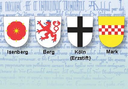 Familienwappen von Besitzern der Isenburg