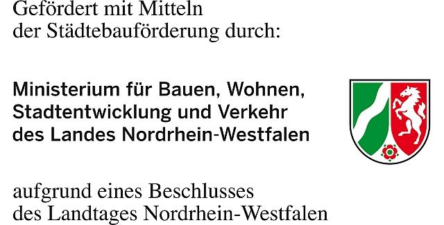 Logo: Gefördert mit Mitteln der Städetbauförderung des Landes Nordrhein-Westfalen