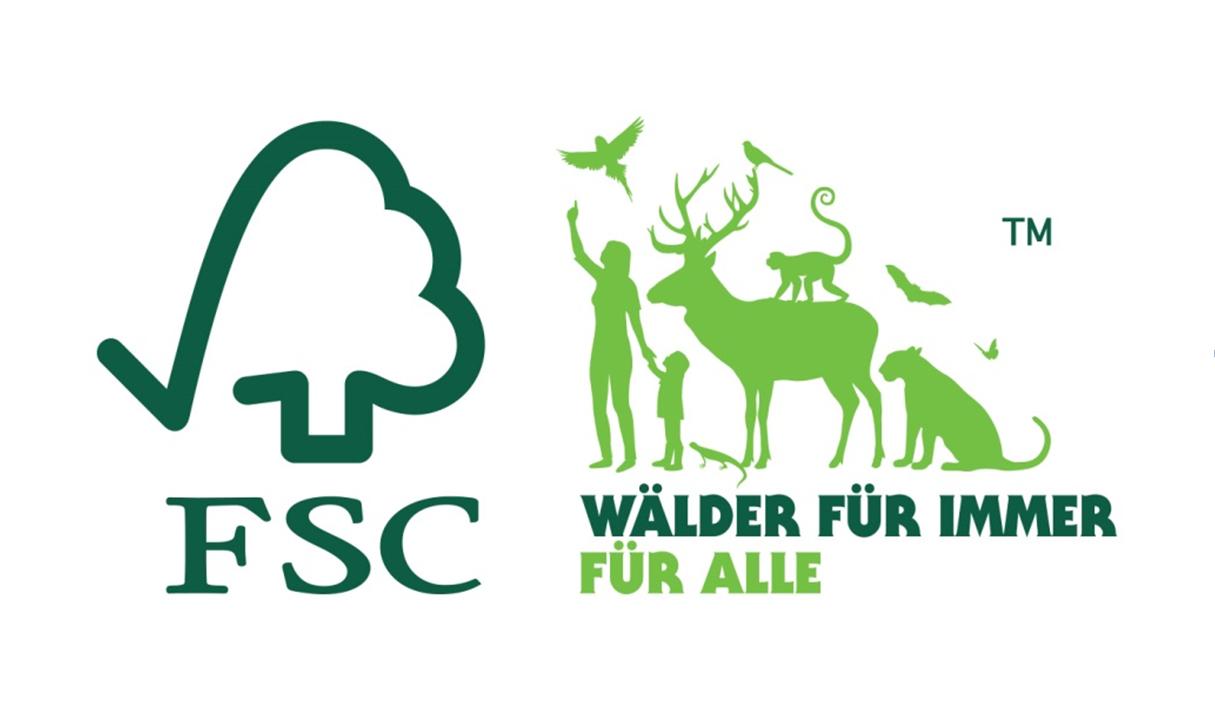"""FSC-Aktionslogo """"Wälder für immer - für Alle"""""""