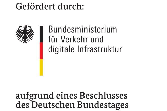 Logo und Schriftzug: Bundesministerium für Verkehr und digitale Infrastruktur