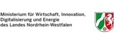Logo und Schriftzug: Ministerium für Wirtschaft, Innovation, Digitalisierung und Energie des Landes Nordrhein-Westfalen