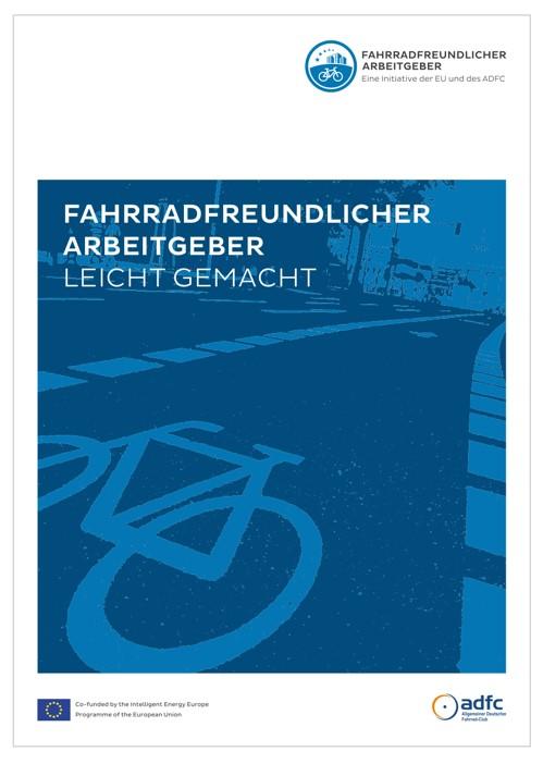"""Deckblatt des Handbuchs """"Fahrradfreundlicher Arbeitgeber"""""""