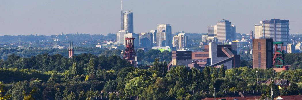 Skyline der Stadt Essen