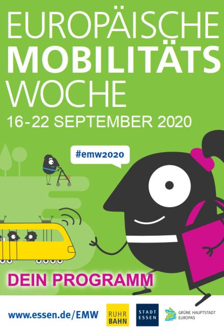 Titelbild des Programmheftes der Europäischen Mobilitätswoche 2020