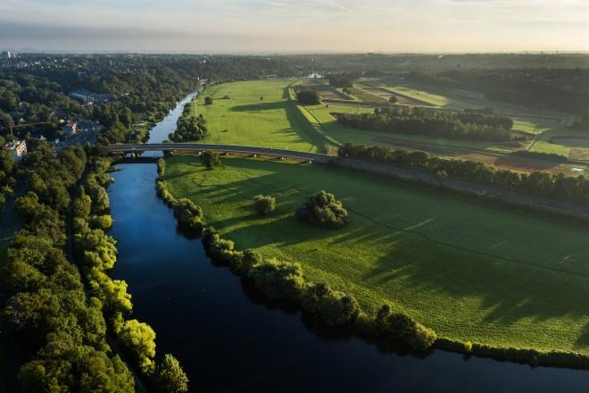 Luftbild: Essener Ruhraue