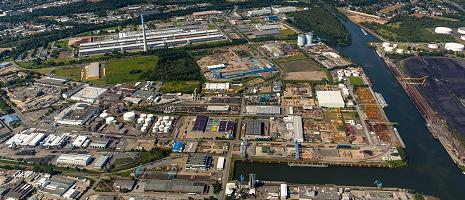 Luftbild: Der Essener Stadthafen