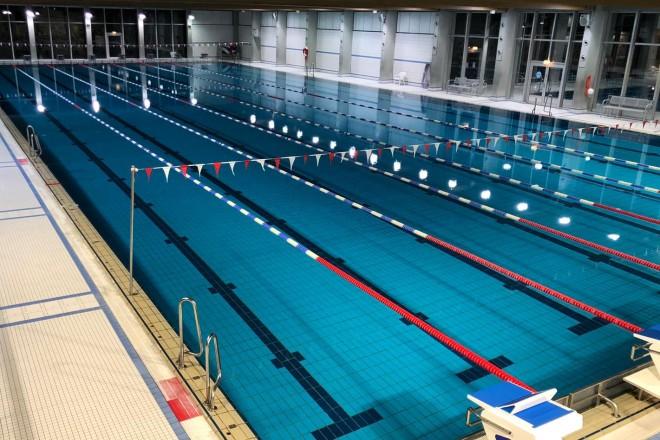 Foto: Sport- und Wettkampfbecken des Schwimmzentrums Rüttenscheid