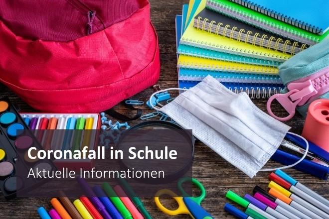 Grafik: Coronafall in Schule: aktuelle Informationen